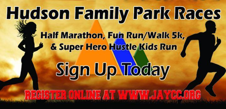 Hudson Family park races Banner