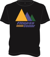 Black Fitness T-shirt