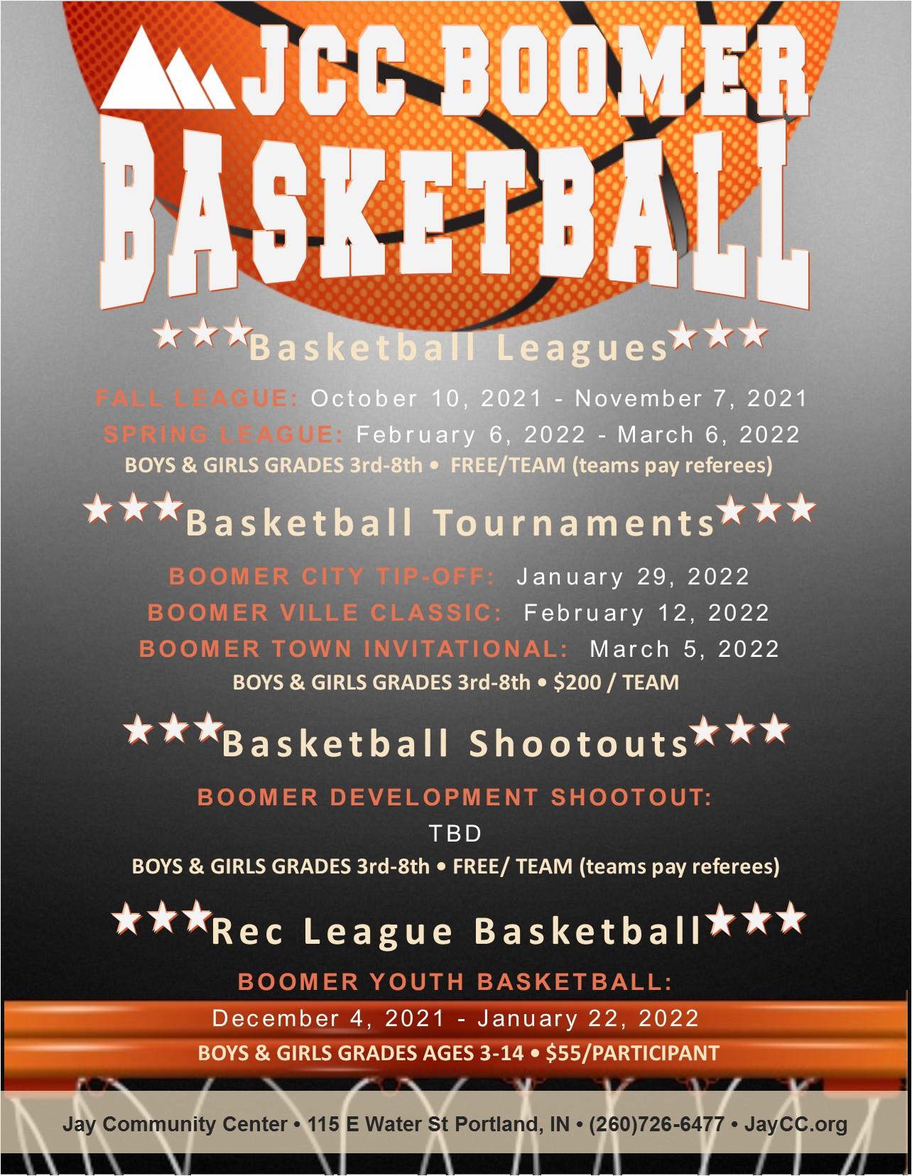 2021-22 Boomer Basketball Flier